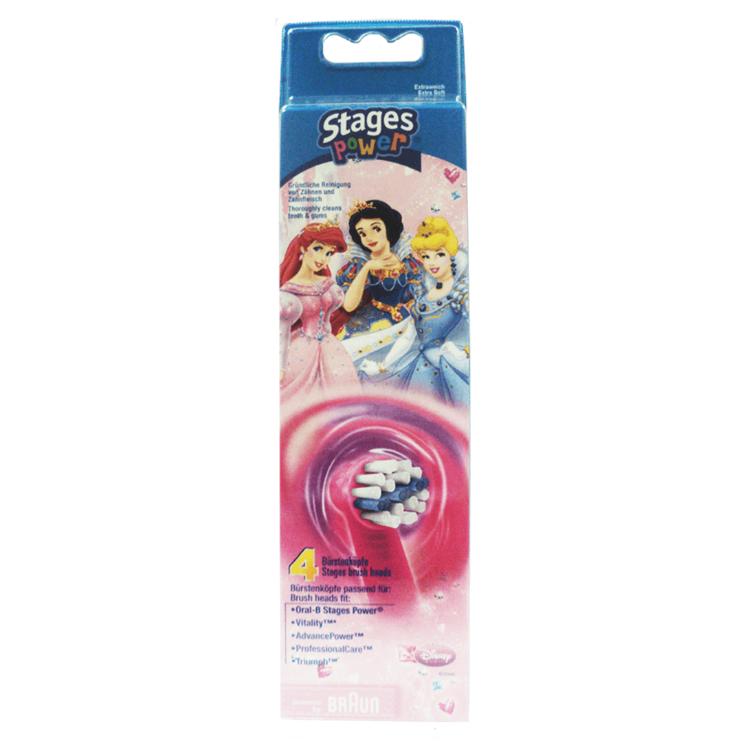 Oral B Stages Power Kids Brush Heads Pack Of 4 Mashco