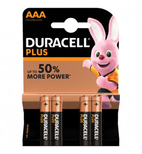Duracell Plus Power AAA 4s Batteries (Box of 10 cards)