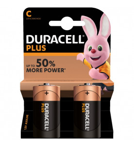 Duracell Plus Power Alkaline Plus C Batteries (Box of 10 cards)