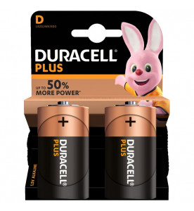 Duracell Plus Power Alkaline Plus D Batteries (Box of 10 cards)