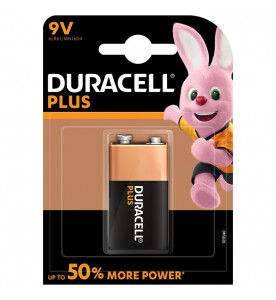 Duracell Plus Power Alkaline Plus 9V Battery (Box of 10 cards)