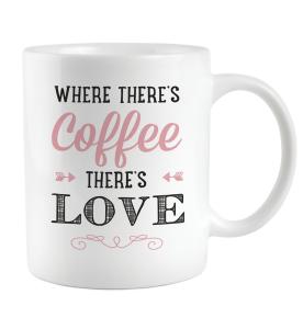 Aroma Home Printed Ceramic Mug & Cosy Socks (Pink)