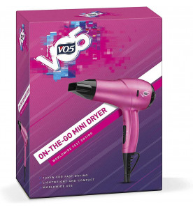 VO5 VO57U On-the-Go Mini Hairdryer Pink 1200W With 2 Heat & 2 Speed Settings