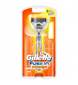 Gillette Fusion Power 5-Blade Razors (Box of 6 cards)