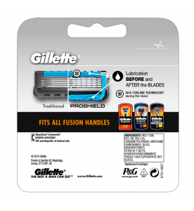 Gillette Fusion ProShield Chill Blade Refills Men's 4s (Box of 10 cards)
