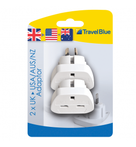 Travel Blue 2 X American Travel Plug (Non Earthed Adaptor)