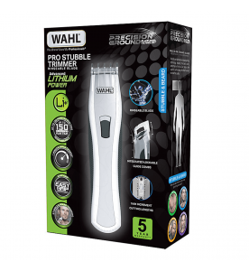 Wahl Lithium Stubble White Rechargeable Trimmer (809)