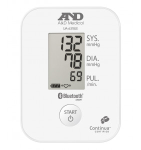 A&D Medical UA-651BLE Upper Arm Blood Pressure Monitor with Bluetooth® Smart/ Bluetooth® Low Energy Connectivity