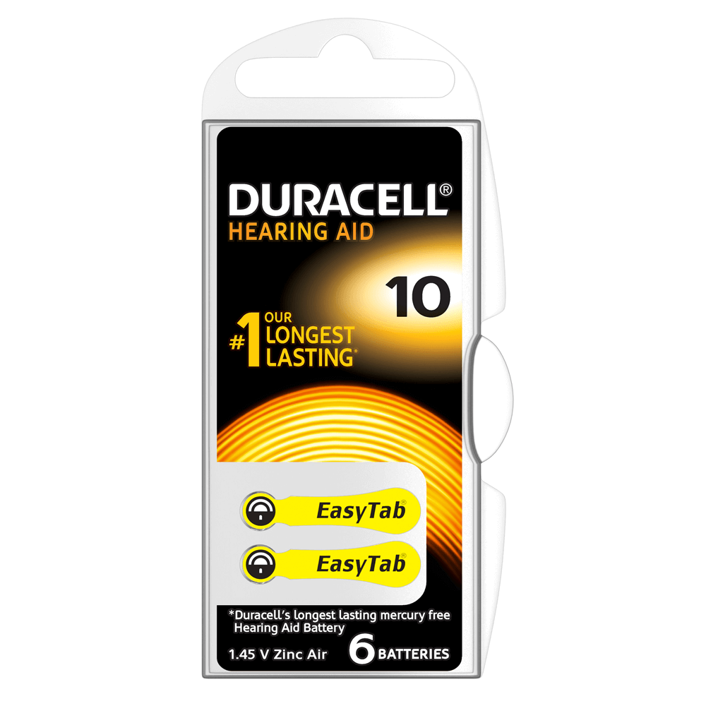 Duracell Easytab 10 230 Hearing Aid Batteries Card Of 6