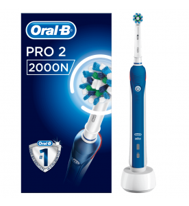 Oral-B Pro 2 2000N CrossAction Electric Toothbrush Rechargeable