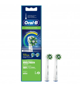 Oral-B CrossAction Toothbrush Head with CleanMaximiser Technology, Pack of 2 Counts