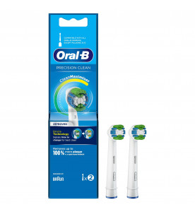 Oral-B Precision Clean Replacement Toothbrush Head with CleanMaximiser Technology, Pack of 2 Counts