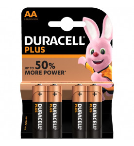 Duracell Plus Power Alkaline AA 4s Batteries (Box of 20 cards)