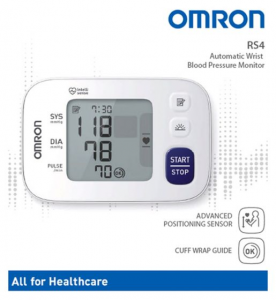 Omron RS4 Wrist Blood Pressure Monitor (HEM-6181-E)