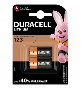 Duracell Lithium 123 Twin Batteries (Card of 2)