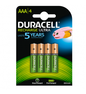 Duracell StayCharged Rechargeable AAA 4s Batteries