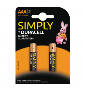 Duracell Simply 2s AAA (Box of 10 Cards)