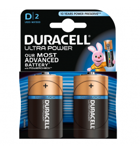 Duracell Ultra Power D 2s Batteries (Box of 10 cards)