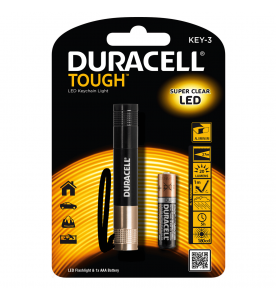 Duracell Tough Keyring 20 Lumen Torch 1AAA