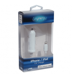 iSynergy MFI iPhone 5/6/7 Car Charger - Apple Certified