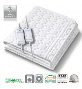 Monogram Allergy Friendly Heated Mattress Top Double Dual (369.62)