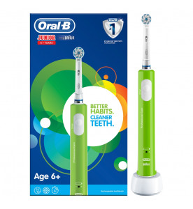 oral-b junior rechargeable green toothbrush