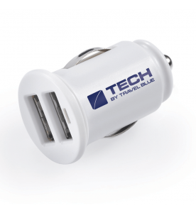 Travel Blue Tech Car Charger - 2.1 A Dual USB